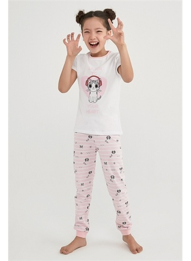 Penti Çok Renkli Kız Çocuk Lısten  2Li Pijama Takımı Renkli